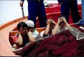 Ngư dân Quãng Ngãi bị vây bắt tại vùng biển Hoàng sa- Ảnh Internet
